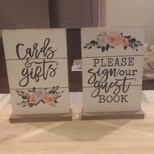 Other - Wedding Decor, guest book sign and gifts sign